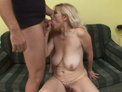 Euro Mature Fucked On Couch