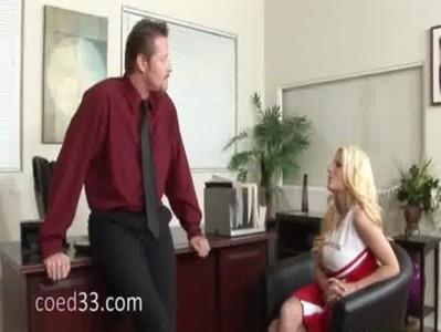 19yo blondie seduces school principal