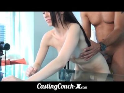 CastingCouch-X 19yo flexible girl tries porn
