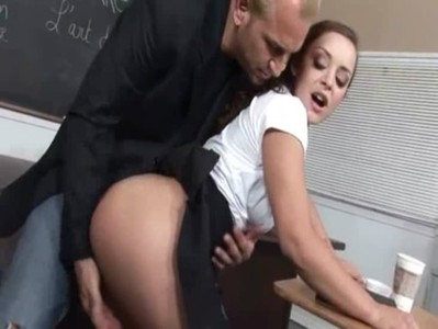 music teacher fucks with titty 19yo girl