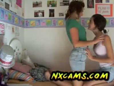 2 hot teen lesbians having fun (no nude) 2